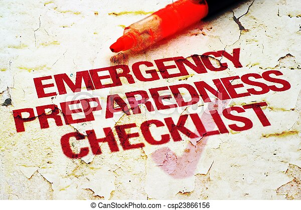 checklist, nødsituation - csp23866156