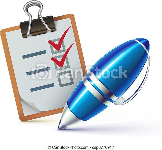 checklist on a clipboard  - csp8776917