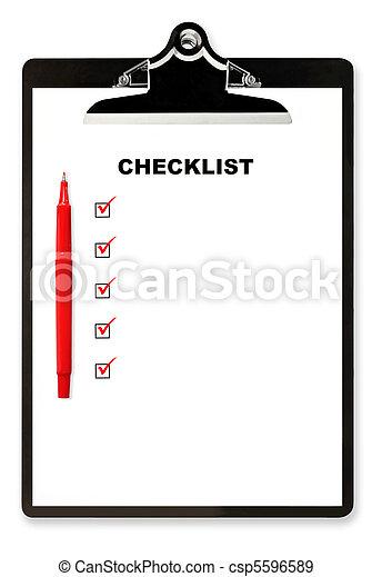 Checklist on Clipboard - csp5596589