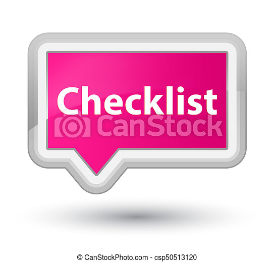 Checklist prime pink banner button - csp50513120