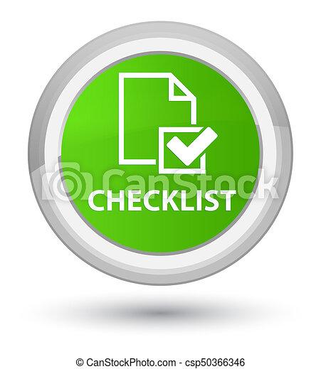 Checklist prime soft green round button - csp50366346