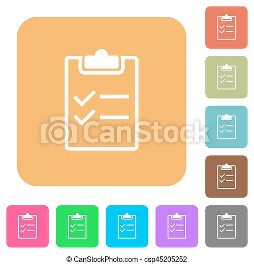 Checklist rounded square flat icons - csp45205252