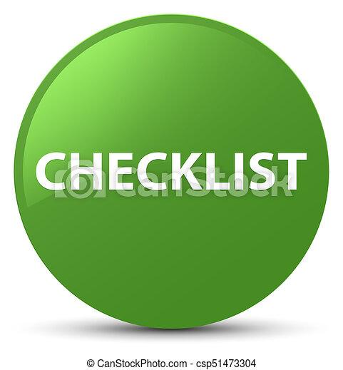 Checklist soft green round button - csp51473304
