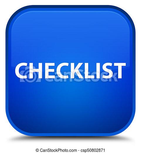 Checklist special blue square button - csp50802871
