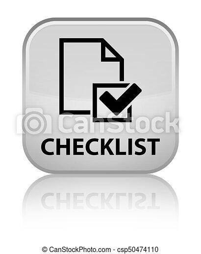 Checklist special white square button - csp50474110