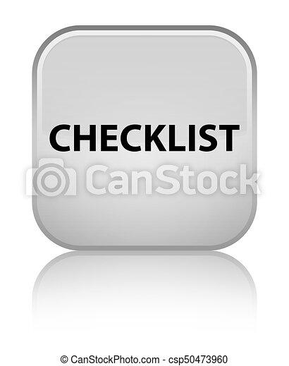 Checklist special white square button - csp50473960