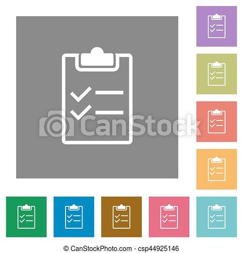 Checklist square flat icons - csp44925146