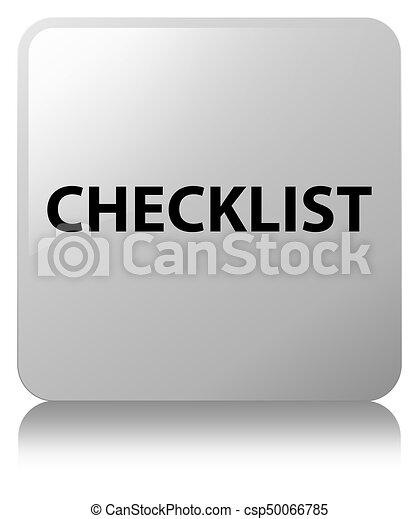 Checklist white square button - csp50066785