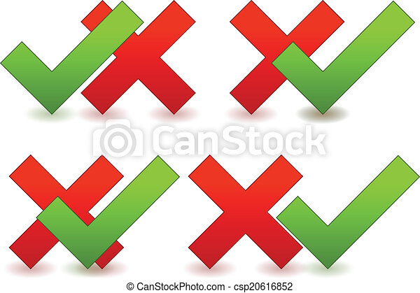 Checkmark, cross graphics