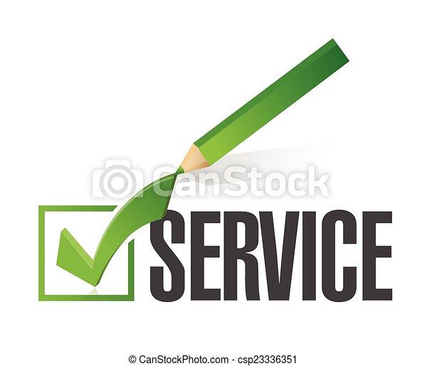 checkmark, desenho, serviço, ilustração - csp23336351