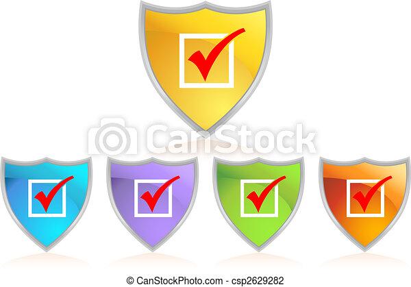 checkmark shield - csp2629282