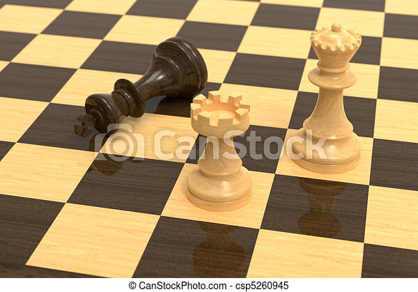 Checkmate on wooden board - csp5260945