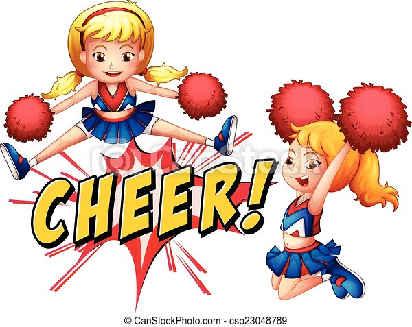 cheer girls girls jumping with cheer icon vector search clip art rh canstockphoto com