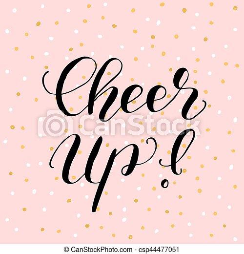 cheer up brush lettering illustration cheer up brush hand rh canstockphoto com Cheer Clip Art Cheer Clip Art
