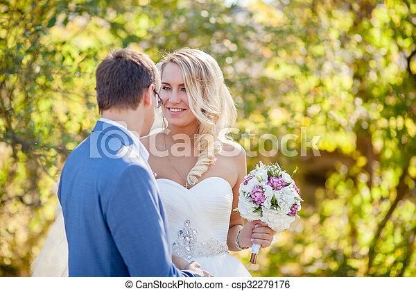 cheerful bride wedding - csp32279176
