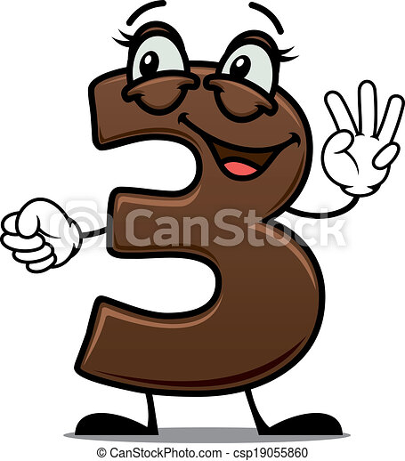 cheerful cartoon number three cheerful cartoon number 3 clip art rh canstockphoto com number 3 clipart png number 4 clipart