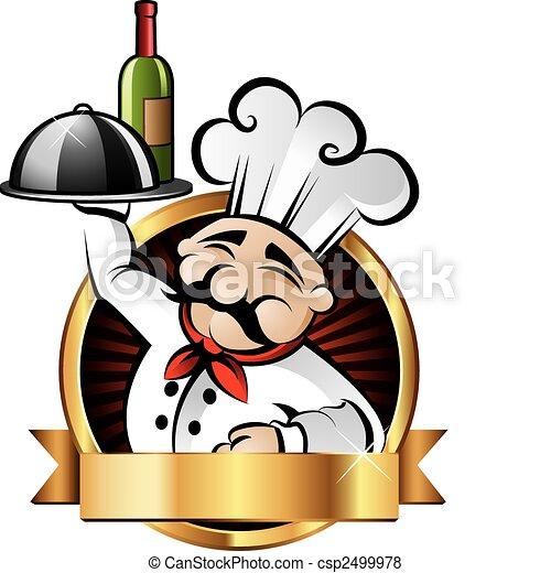 Cheerful Chef Illustration - csp2499978