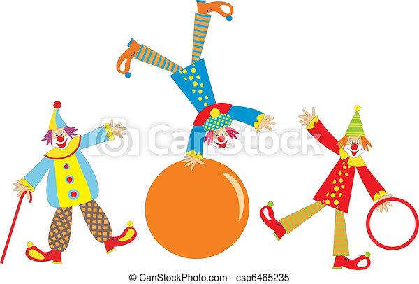 Cheerful clowns  - csp6465235