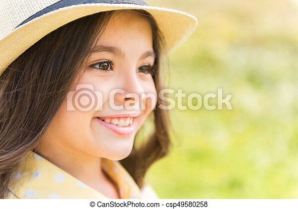 girl looking around