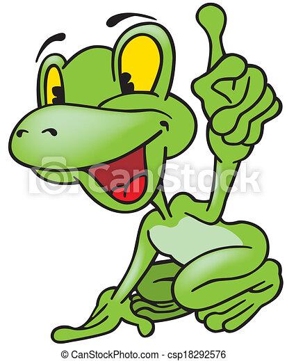 Cheerful Frog - csp18292576