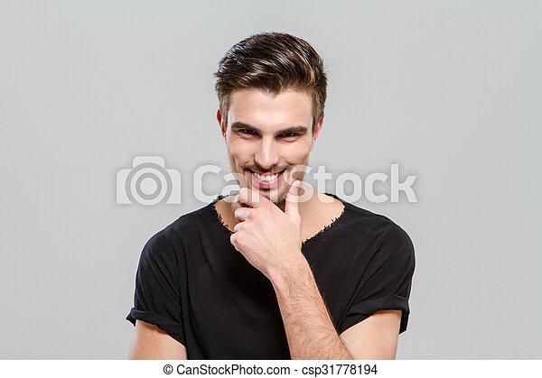 Cheerful handsome guy - csp31778194