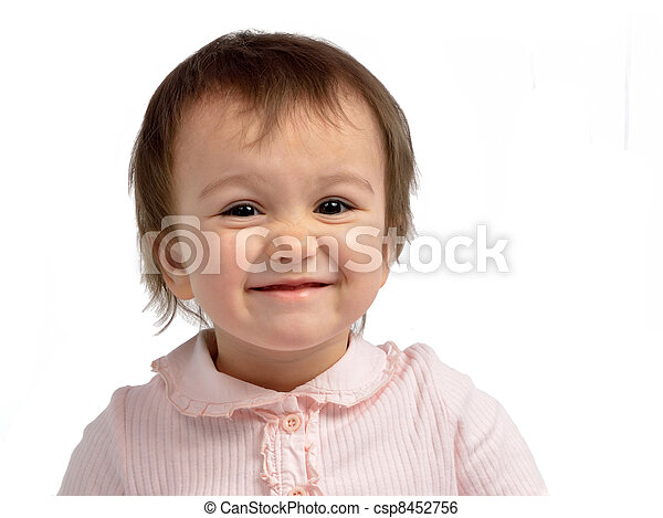Cheerful little girl - csp8452756