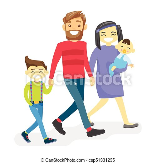 cheerful multiethnic diverse family with happy kids vectors rh canstockphoto com Clip Art Diverse Mixed Family Family Reunion Clip Art