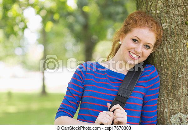 Cute college redhead