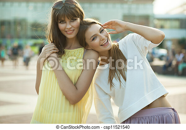 Cheerful young women - csp11521540