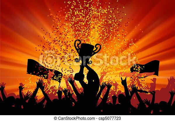 Cheering Crowd. EPS 8 - csp5077723