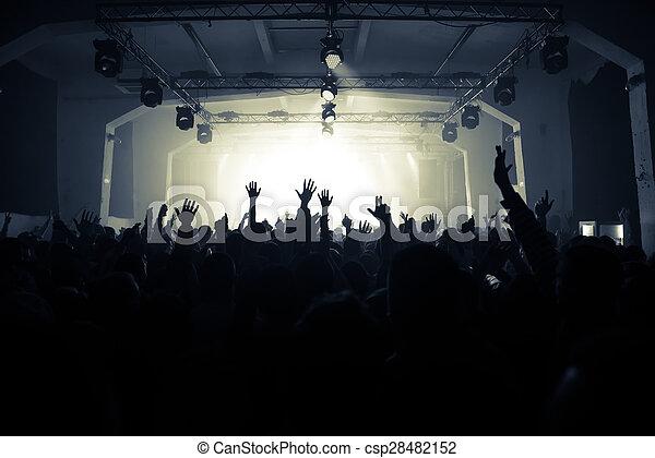 Cheering crowd on the rock concert - csp28482152