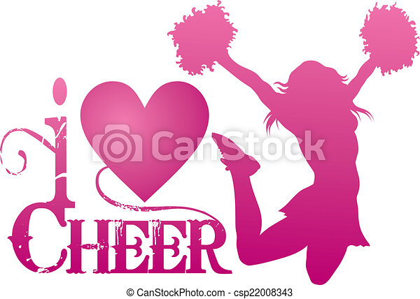 cheerlead, bravorop, hoppning, kärlek - csp22008343
