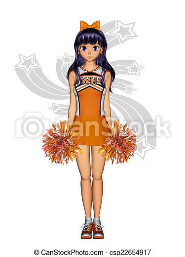 Cheerleader Isolated Pom Jumping Clasp Attractive Clipart