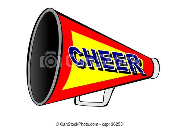 A cheerleader megaphone on white clipart search illustration cheerleader megaphone csp1362551 thecheapjerseys Gallery