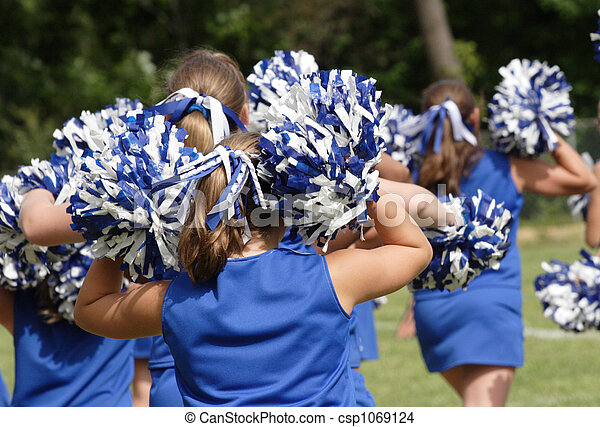 Cheerleaders Cheering - csp1069124