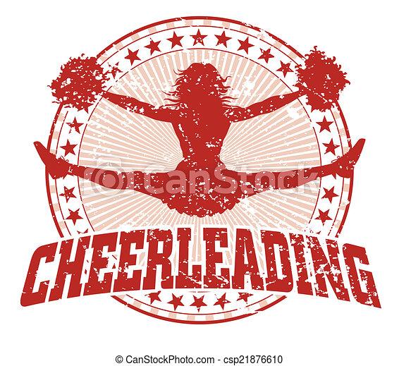 cheerleading, årgång, -, design - csp21876610