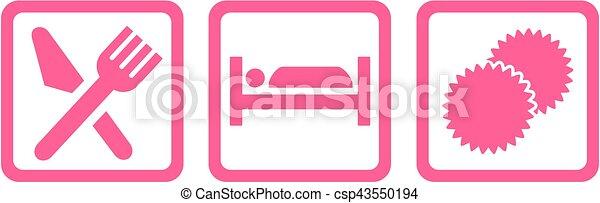 cheerleading, sömn, äta, ikonen - csp43550194