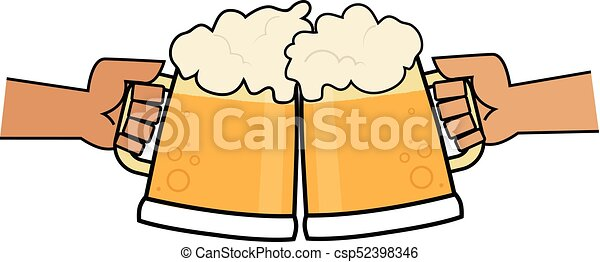 cheers beer clip art of two hands holding beer mugs making eps rh canstockphoto com cheer clip art graphics cheers clipart black and white