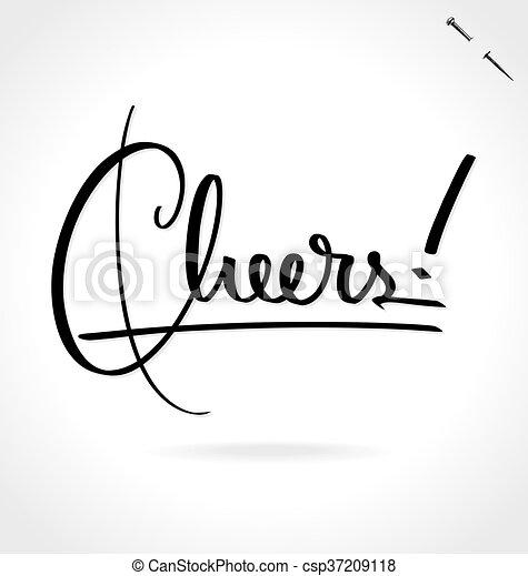 CHEERS hand lettering - csp37209118