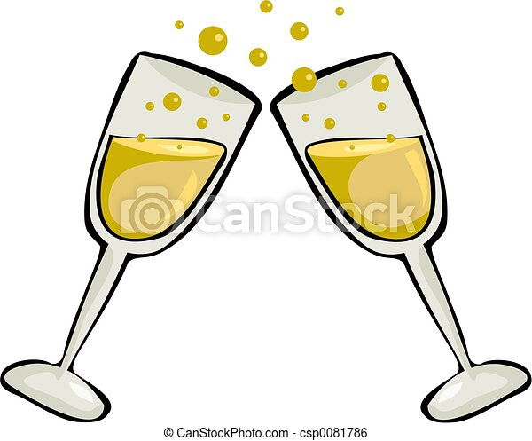 cheers champagne glasses stock illustration search clip art rh canstockphoto com beer cheers clipart beer cheers clipart