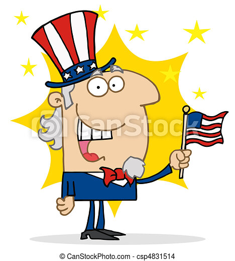 Cheery Uncle Sam - csp4831514