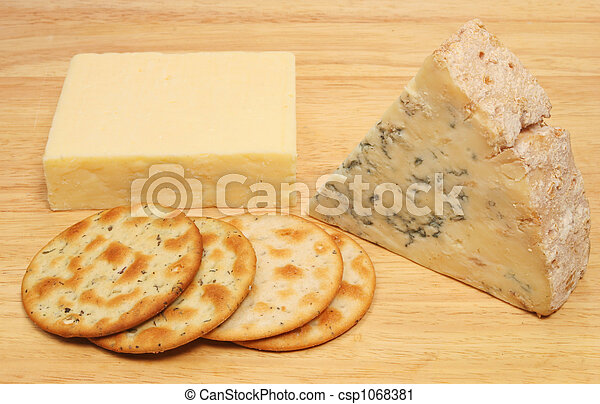 Cheese and biscuits - csp1068381