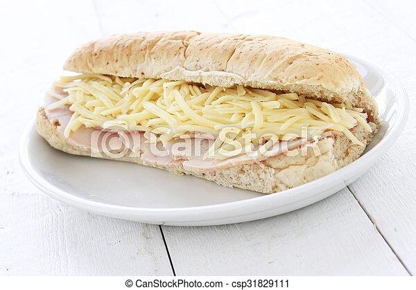 cheese and ham sub - csp31829111