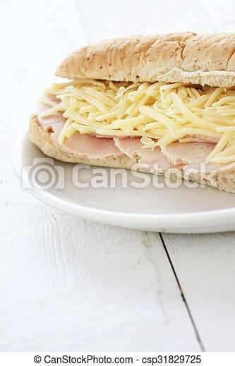 cheese and ham sub - csp31829725