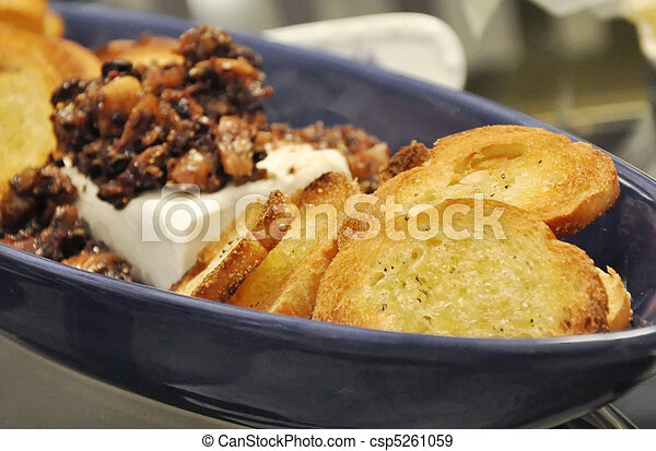 Cheese and olive tapenade - csp5261059