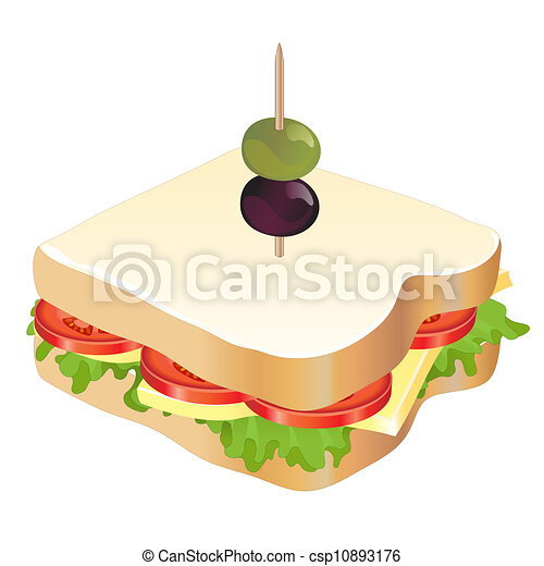 Cheese And Tomato Sandwich A Cheese And Tomato Sandwich Isolated