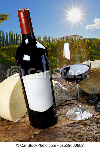 cheese and wine - csp29660682
