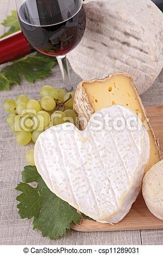 cheese and wine - csp11289031