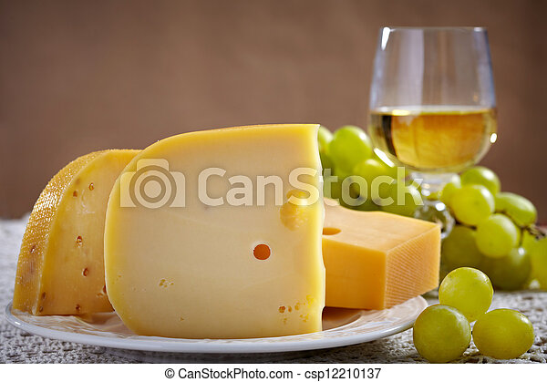 cheese and wine - csp12210137