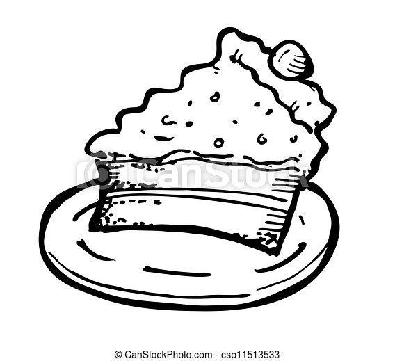 Cheese cake doodle - csp11513533